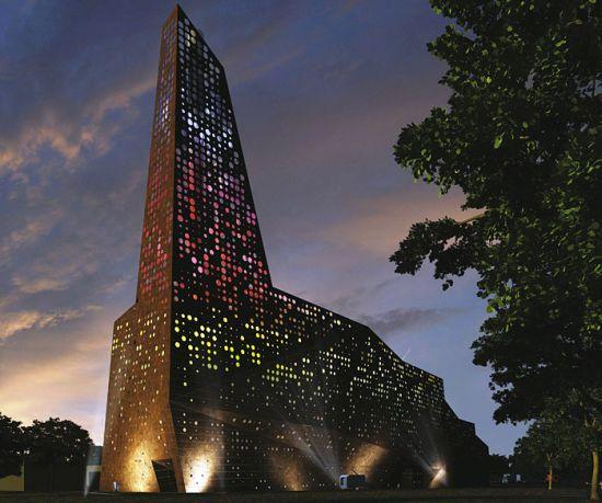 Incinerador que parece una moderna catedral