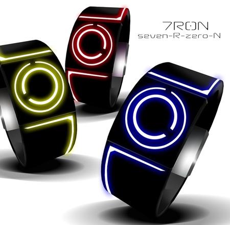 Reloj LED inspirado en Tron