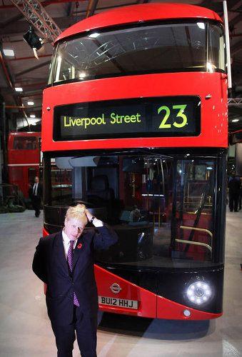 Ómnibus rojo de dos pisos de Londres - 2