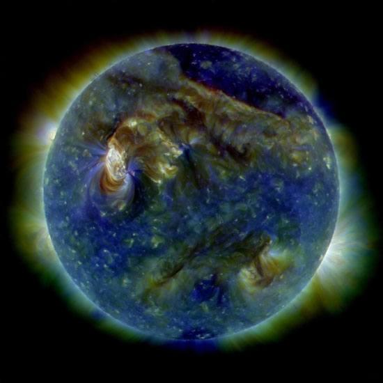 Actividad magnética y erupciones del Sol