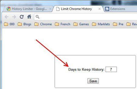 History Limiter