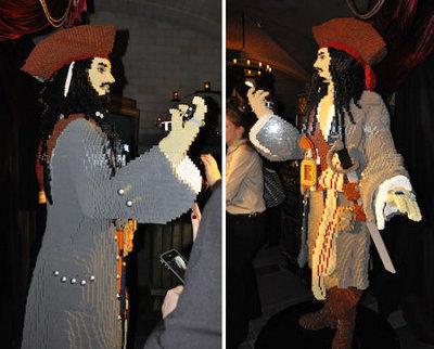 Escultura LEGO de Jack Sparrow - 2