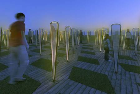 Árboles artificiales usan piezoelectricidad y recolectan agua de lluvia