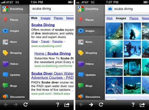 Google Search App para iPhone