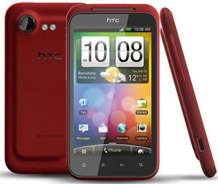 HTC Incredible S en rojo