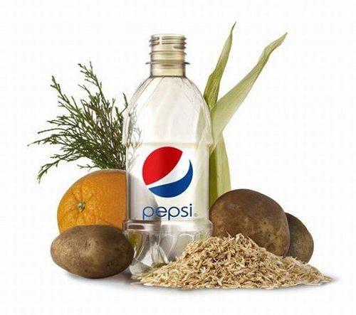 Las nuevas botellas de Pepsi serán hechas a partir de material vegetal