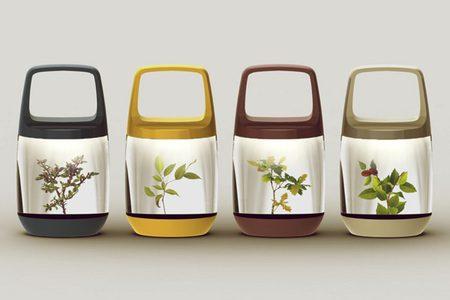 Eco-Lantern, la lámpara portátil a la que le crecen plantas en el interior