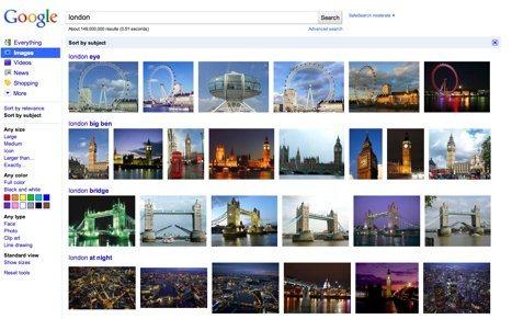 Google Images permite ordenar resultados por tema