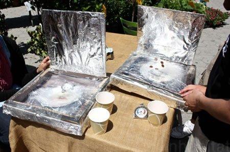Horno solar hecho con cajas de pizza