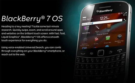 RIM anuncia nuevo sistema operativo: BlackBerry 7