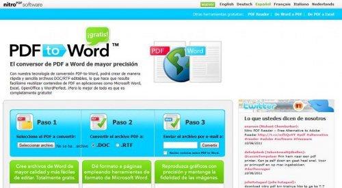 PDFtoWord, nueva forma de convertir archivos PDF en archivos de Word