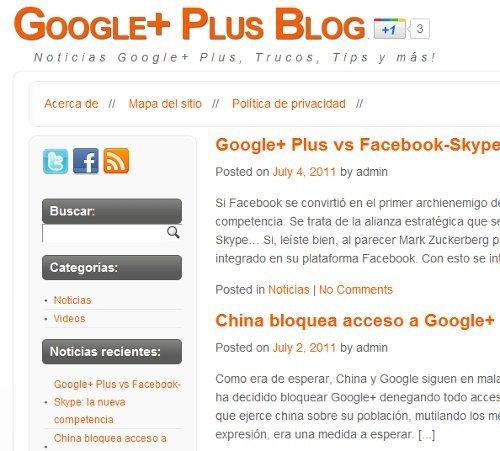 Google Plus Beta, un nuevo blog dedicado a la nueva red social lanzada por Google