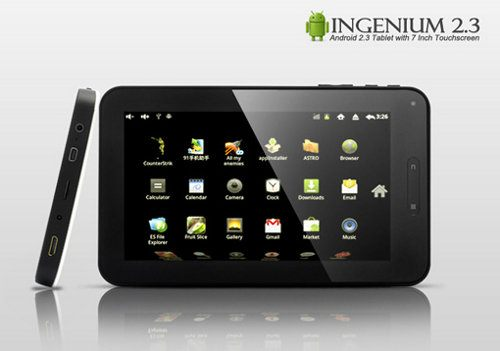 Ingenium 2.3, nuevo tablet Android por $192 dólares