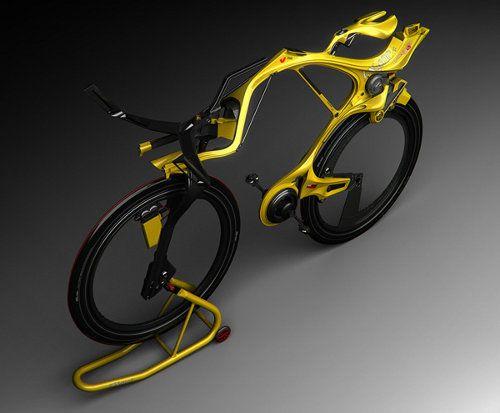 Nueva y llamativa bicicleta híbrida sin cadena
