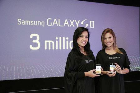 Samsung vende 3 millones de móviles Galaxy S II en solamente 3 días