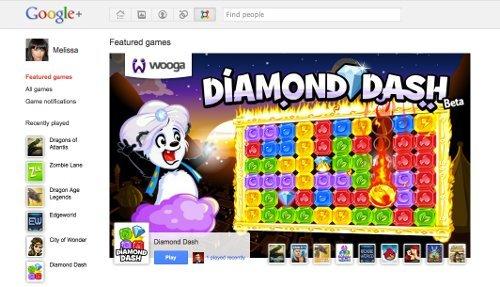 Google+ añade juegos