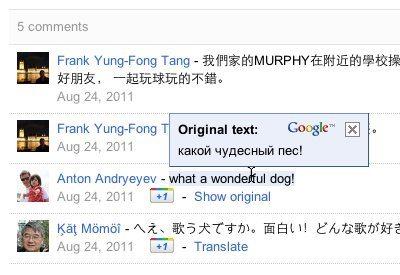 Google+ ya cuenta con una extensión oficial de Google Translate