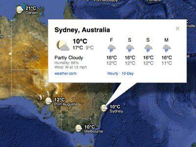 Google Maps ahora tiene información sobre el tiempo