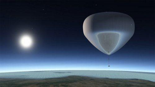 Tal vez en el futuro puedas ir al espacio en un globo gigante