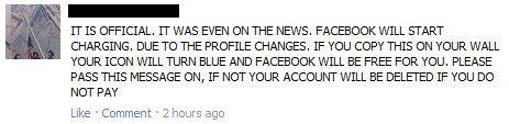 Facebook NO cobrará a los usuarios luego de su rediseño