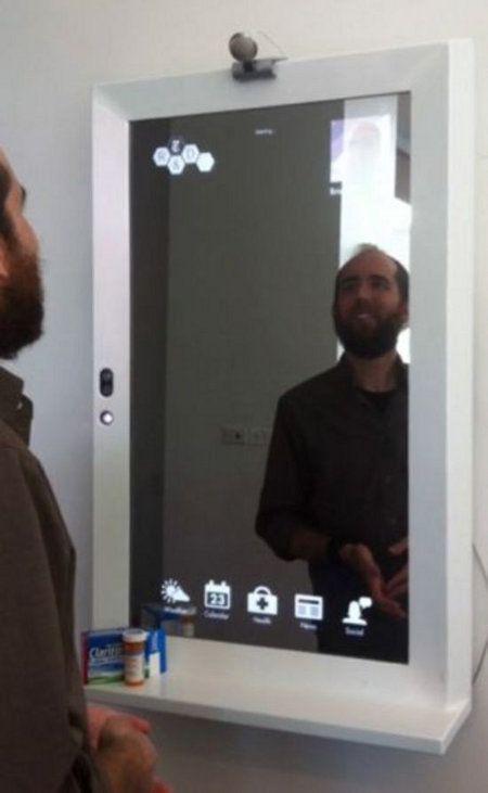 Magic mirror un espejo que te rastrea y da consejos for Espejo en el movil
