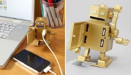 Roboto, un simpático concentrador USB