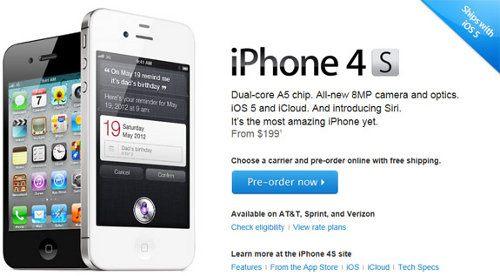 El iPhone 4S ya fue pre-ordenado más de 200.000 veces