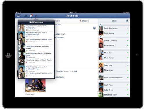 Facebook lanza su app oficial para iPad