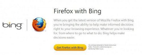 Firefox with Bing, lo nuevo de Mozilla y Microsoft