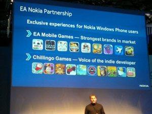 Futuros dispositivos Windows Phone de Nokia tendrán videojuegos exclusivos de EA Games