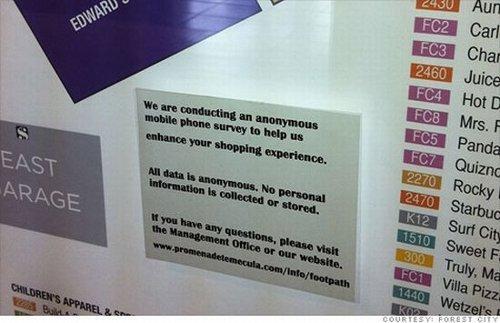 Los centros comerciales están empezando a rastrear tus movimientos mediante tu móvil