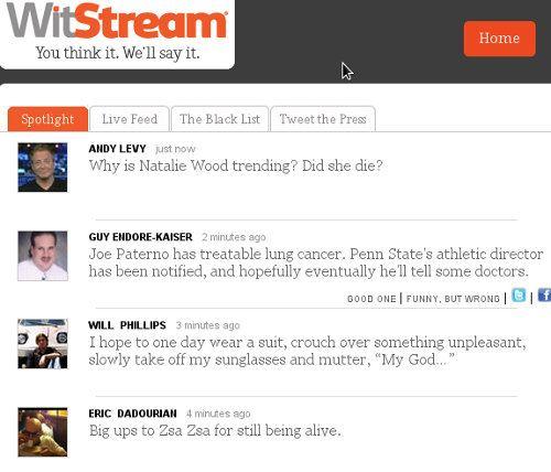 WitStream, la web que nos muestra lo más divertido de Tweeter