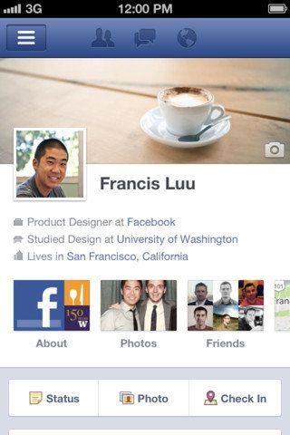 Biografía de Facebook llega a iPhone y iPod touch