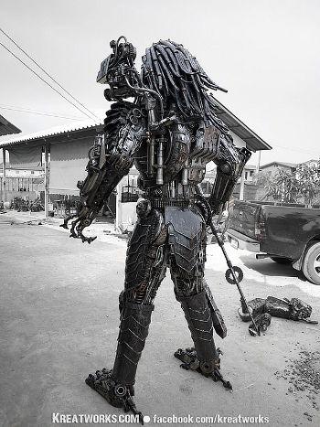Mira este increíble Predator steampunk2