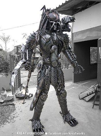 Mira este increíble Predator steampunk3
