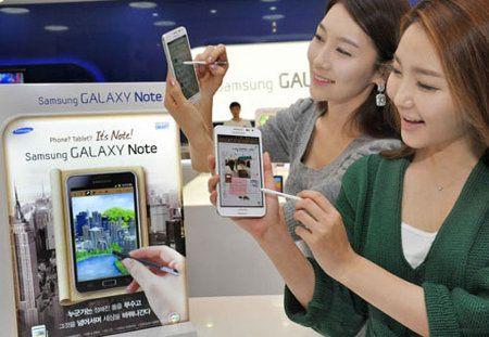 Samsung Galaxy Note blanco es presentado en Corea del Sur