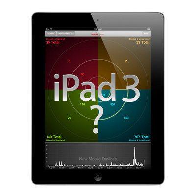 iPad 3 podría ser lanzado en febrero de 2012 y con pantalla Retina