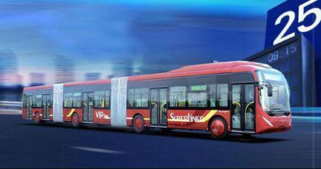 Este autobús puede llevar hasta 300 pasajeros