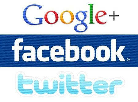 Facebook, Twitter o Google Plus