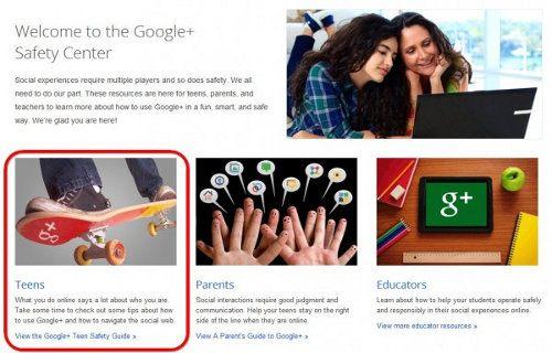 Google Plus ya puede ser usado por adolescentes