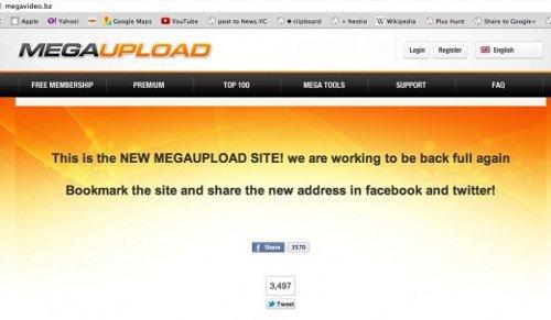 Megaupload intenta volver a estar online