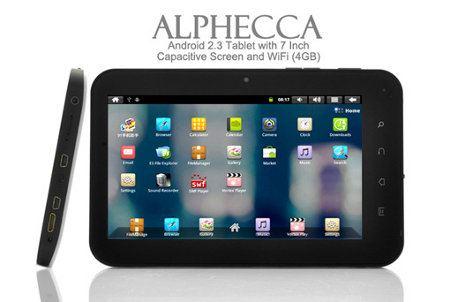 Alphecca, un tablet Android muy económico