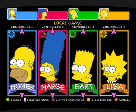 Los Simpsons, versión arcade, disponible en Xbox LIVE
