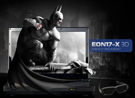 Origin Eon17-X3D, laptop con pantalla 3D y dos tarjetas Nvidia