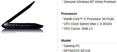 SAMSUNG NP700G7C-S01US, nueva notebook para gamers con procesador Ivy Bridge