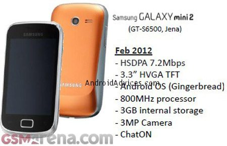 Samsung Galaxy Mini 2 filtrado