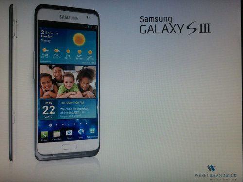Samsung Galaxy S III sería lanzado en mayo2