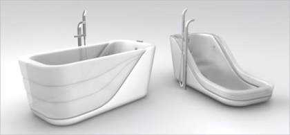 Una bañera especial con lados inflables