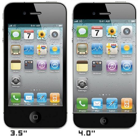 El próximo iPhone podría contar con una pantalla de 4 pulgadas