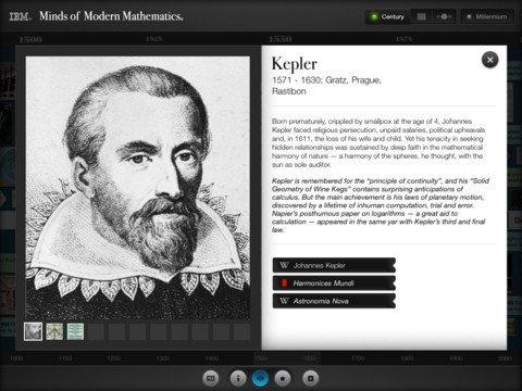 Mil años de la historia de la matemática en una sola app